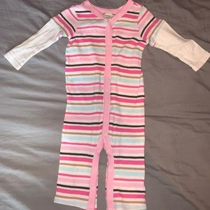 (3/$20) old navy pink long sleeve footless onesie